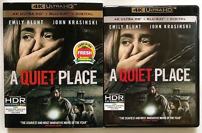 A Quiet Place 4K Ultra Hd Blu Ray 2 Disc Set + Slipcover Sleeve Free Shipping