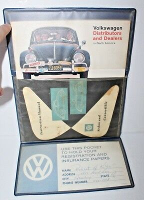 Vintage 1959 Volkswagen Sedan and Convertible Instruction Manual w/ More Stuff