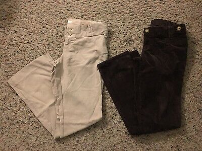 """2 Pair Size 4 Old Navy """"Real Waist"""" Maternity Pants"""
