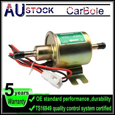 CarBole UNIVERSAL 12V Volt ELECTRIC FUEL PUMP INLINE DIESEL PETROL LOW PRESSURE