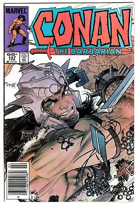 """Marvels Comics Conan The Barbarian #167 Read Copy """"the Creature From Time's Dawn"""