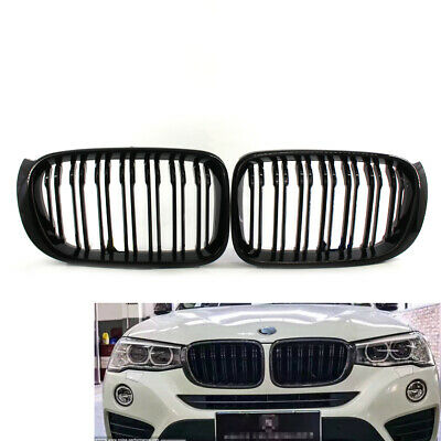 Shiny BLACK Front Hood Grille FOR BMW F25LCI X3 F26 X4 15-17 Twin Line