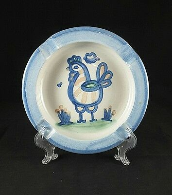 "Hadley Country Scene One (1) 8""  Ash Tray Chicken"