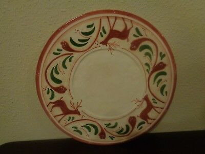 "Vietri Renna Reindeer Chop Charge Serving Platter 13"" Italy New"
