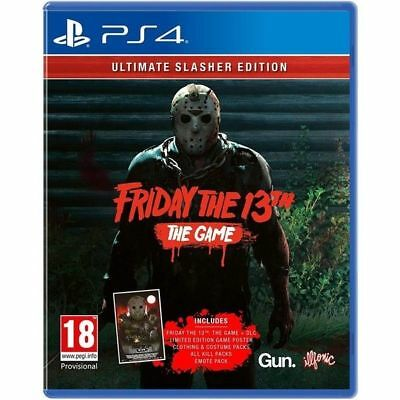 PS4 - Friday The 13th Ultimate Slasher Edition - Very Good Condition + Free Post
