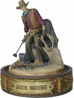 "Franklin Mint John Wayne W/ Branding Iron ""the Wrangler"" Hand Painted Figurine"