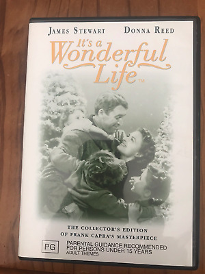 It's A Wonderful Life Collectors Edition James Stewart As New Region 4 Dvd