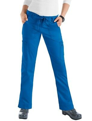 Koi Skinny Lindsey scrubs pants Stretch Small Royal Blue color New condition