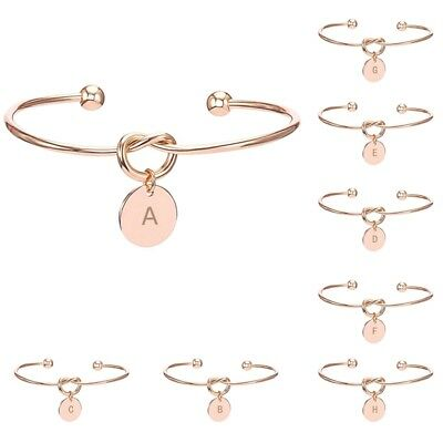 BUY 2 GET 1 FREE Creative Popular Initial Knot Bracelet Opening Bangle Jewelry