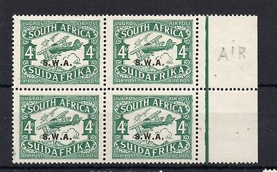 South West AFRICA (JAG117) SG 70 - 1930 4d Air with short i in Air -never hinged