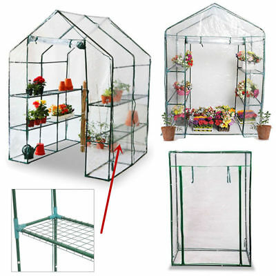 Walk In Greenhouse PVC Plastic Garden Compact Grow House Frame 4 or 6 Shelves