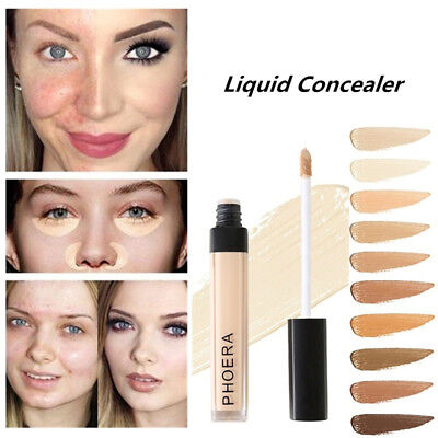 Women 30ml PHOERA Matte Oil Control Concealer Liquid Foundation Beauty Makeup