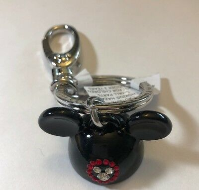 Disney Parks Mickey Mouse Ear Hat Jeweled Icon  Metal Keychain