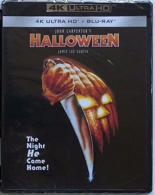 New John Carpenters Halloween 4K Ultra Hd Blu Ray 2 Disc Set Free World Shipping