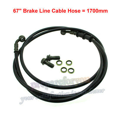 "M10x1.25 Banjo 67"" Hydraulic Brake Line Cable Hose For Dirt Bike ATV Go Kart"