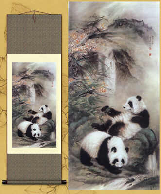 "Metope Decorative painting Chinese painting Ink painting Scroll painting""一对国宝"""