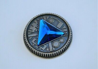 Zeo Ranger 3, Blue Power Master Coin-Weathered for Legacy Morpher, Cosplay Prop