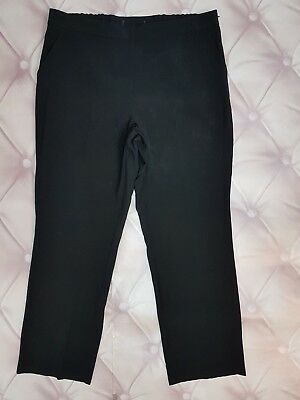Ex M&S Black Trousers With Side Pockets And Zip (256)