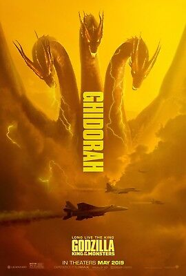 "Godzilla King of the Monsters Poster 48x32"" 36x24 Ghidorah Movie 2019 Print Silk"