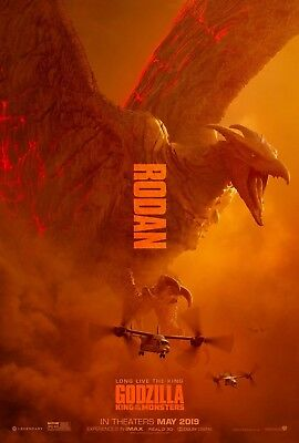 "Godzilla King of the Monsters Poster 48x32"" 36x24"" Rodan Movie 2019 Print Silk"