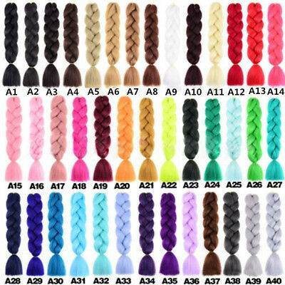 24'' Afro Twist Braids Ombre Synthetic Kanekalon Jumbo Braiding Hair  AU 2019 AU