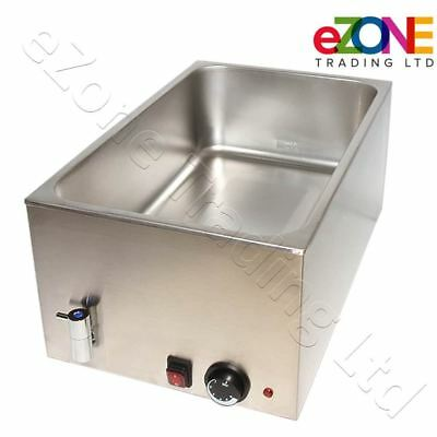 Atosa Wet Bain Marie With Drain Stainless Steel Food Gravy Sauce Electric Warmer