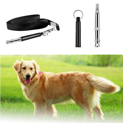 New Popular Ultrasonic Sound Pitch Silent Dog Pet Command Training Whistle US