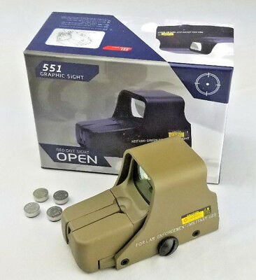 Sabre Tactical Holographic Sight Weapon Scope Red & Green Dot Clone 551 Tan