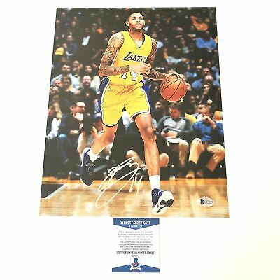f50a6fae018 Brandon Ingram signed 11x14 photo BAS Beckett Los Angeles Lakers Autographed