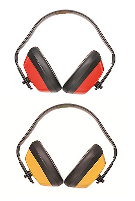PORTWEST PW40 Classic red or yellow light weight ear defender muff SNR28dB