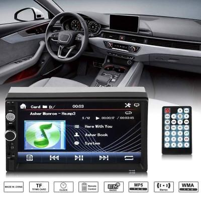"""7"""" Double 2 Din Car Stereo Radio Bluetooth HD 1080P Video Digital Touch Screen"""
