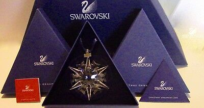 "SWAROVSKI Annual Edition 2002 Large Star ""SNOWFLAKE"" Christmas Crystal Ornament"