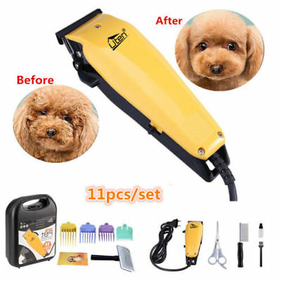 Pet Hair Clipper 11 Pc Professional Grooming Kit Animal Cat Dog Trimmer Shaver