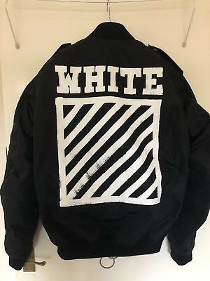 8794ecef6 OFF WHITE BRUSH Diagonals Bomber Jacket Size Small (fits M & L)AW2016 RRP  $1519