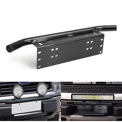 Liscence Number Plate Holder Mount Bracket Car Bumper LED Driving Light Bar GG