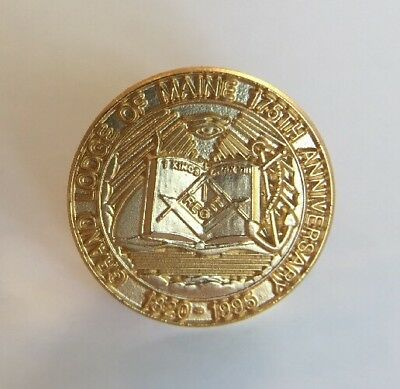 Grand Lodge of Maine 175th Anniversary (1820-1995) Masonic Lapel Pin