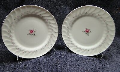 """Fine China of Japan Royal Swirl Dinner Plates 10 1/4"""" Set of 2 EXCELLENT"""