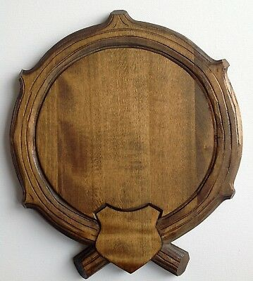 Trophy Mounting Plaque taxidermy keiler, wooden shield for Wild Boar