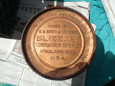 Vintage Blizzard Continuous Sprayer Base Only Copper Brass