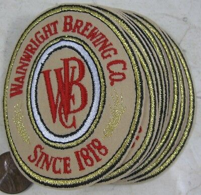 Lot of 10 Wainwright Brewing Co Beer Patches