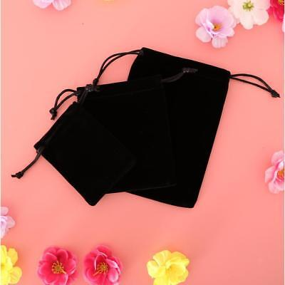 5Pcs Black Drawstring Velvet Pouch Jewellery Small Gift Bags Wedding Favours