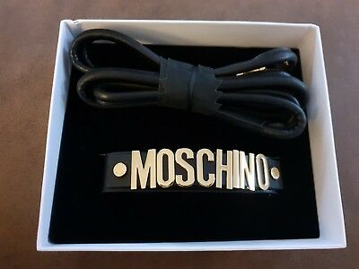 Moschino H&M collection dog collar and lead genuine leather! Hunde Leine  BNWT