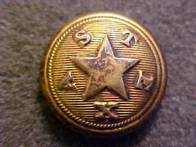 Very Rare Civil War Texas Star State Militia 5/8 Uniform Button Extra Quality