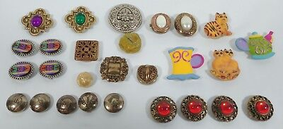 Vintage Lot Of Button Covers  Whimsical, Gold Tone, Silver Tone  Some Singles