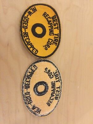 "tire recapping corp patch, new old stock, 1970's,""new-used-recapped"""