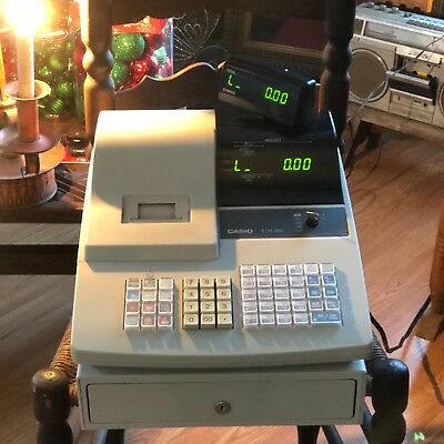 Casio PCR-360 Cash Register with Key and removable cash drawer nice!