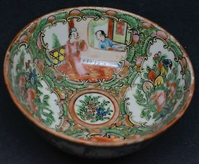 Antique Chinese Export Rose Medallion Bowl ~ 4 inches wide ~ 🐘