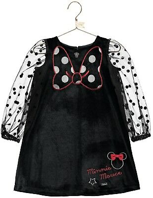 2f45a072017c7 Girls Luxury Official Disney Boutique Velvet Minnie Mouse Occasion Dress  3-10yrs