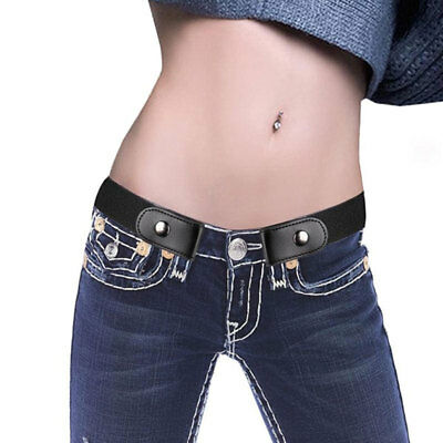 Buckle-free Elastic Unisex Adjustable Invisible Belt For Jeans No Bulge Hassle~