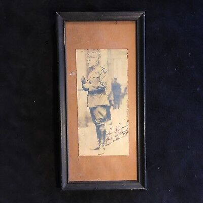 WW1 Major General Photograph Autograph Framed Picture Vintage collecting